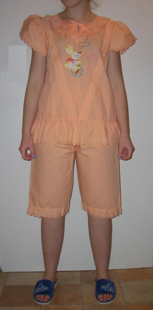 Piżama damska łososiowa vitage