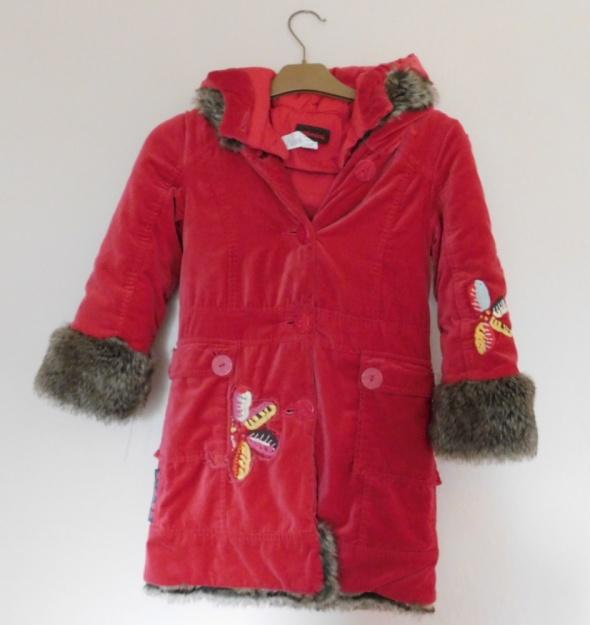 Catimini czerwony płaszczyk dla dziewczynki 7 lat