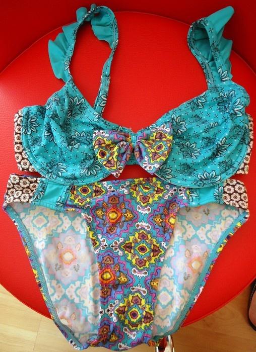 Strój kąpielowy dwuczęściowy kostium bikini 65C 70C 32 34 jak n...