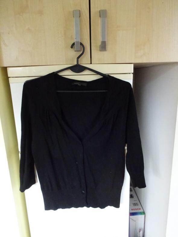Czarna narzutka rękaw 3 4 NEXT bolerko sweter na guziki rozpinany