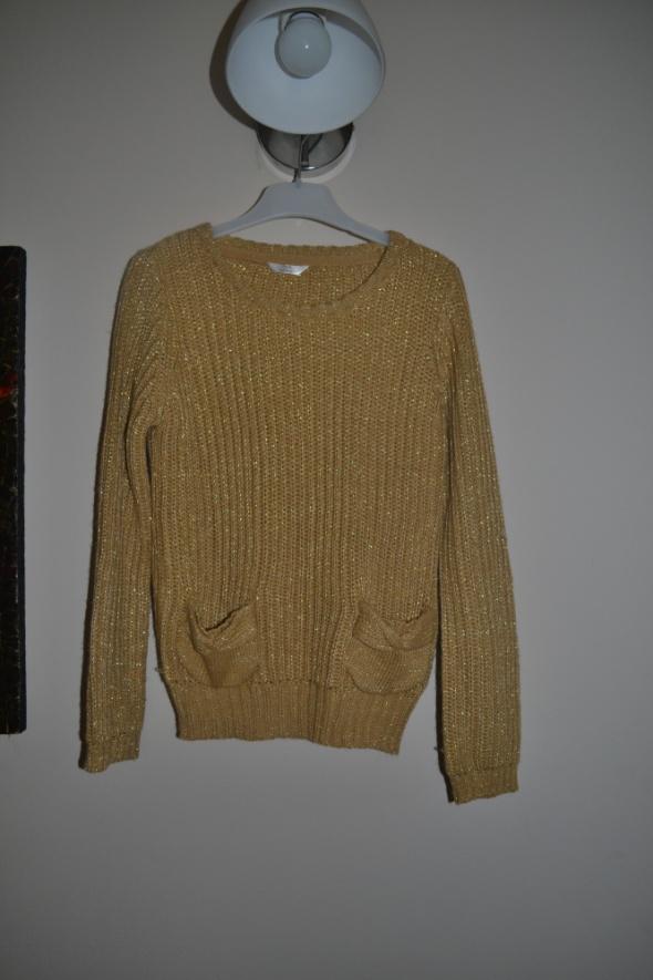 Sweterek Złoty 122cm 6 7 lat 128cm