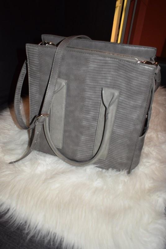 Diverser szara torba shopper bag...