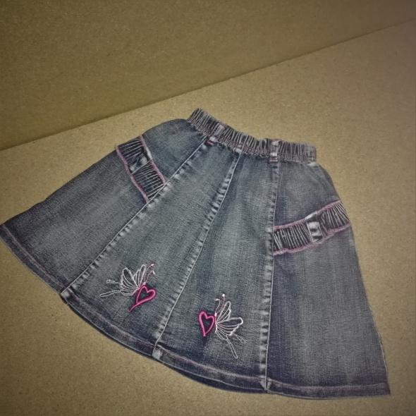 Jeansowa rozkloszowana spódnica na gumce 140 146 cm 12 lat