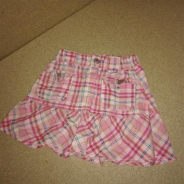 Różowa rozkloszowana spódnica z kieszeniami 122 cm 67 lat