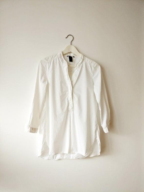 H&M Biała koszula bawełna przewiewna klasyk S M 36 38