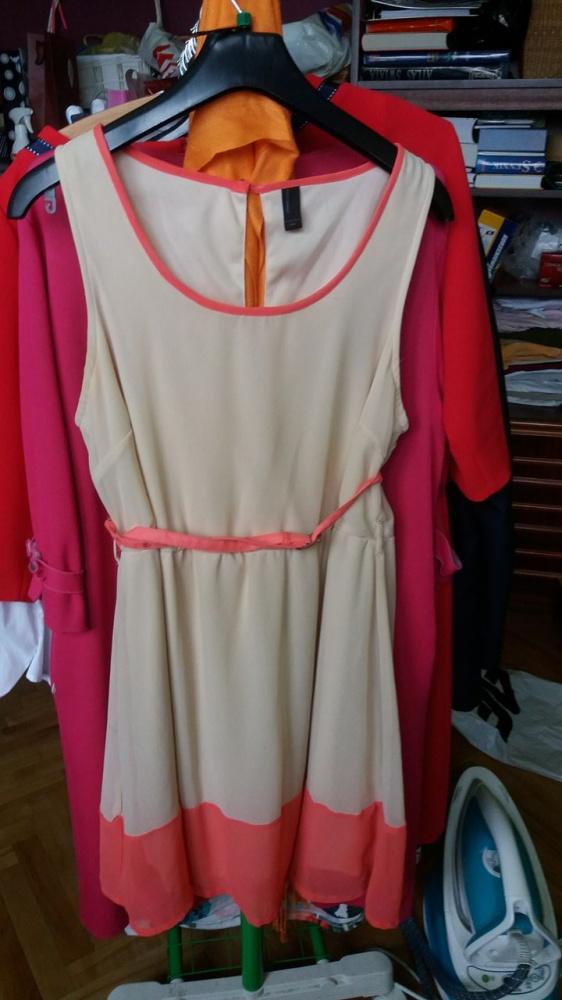 Sukienka letnia brzoskwiniowa L okazja tanio