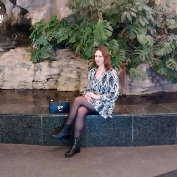 Blogerek Wężowa sukienka i trzewiki