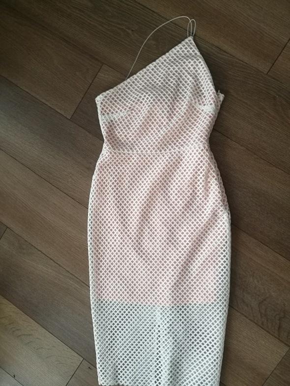 asos sukienka nowa kremowa siateczka 36...
