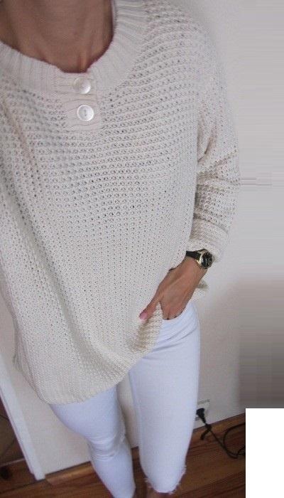 śmietankowy sweterek vintage