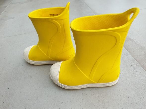 Żółte kalosze Crocs Bump It Kids rozmiar 2526 stan idealny