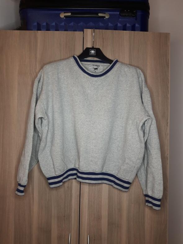 krótka bluza oversize M szara