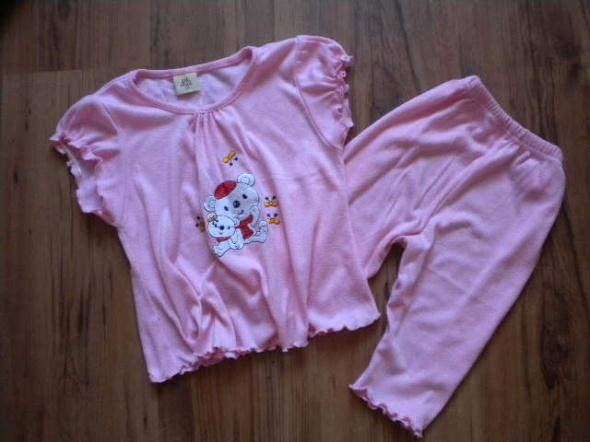 piżama 104 różowa