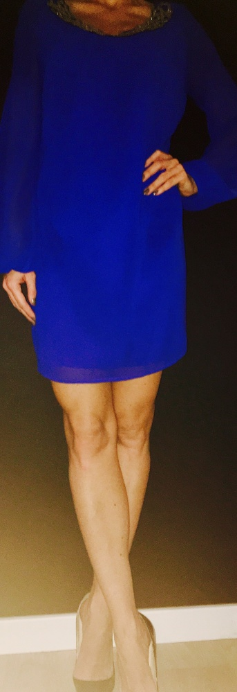 Suknie i sukienki Lipsy Embellished Neck Chiffon Mini Shift Dress