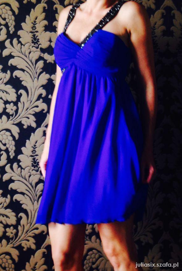 Suknie i sukienki Lipsy kobaltowa sukienka