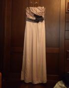 Sukienka H&M pudrowy maxi rozm 34