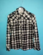 Koszula w czarnobiałą kratkę Denim CO 38...