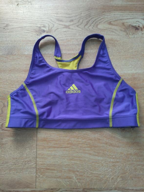 Koszulki Niebiesko żółty biustonosz sportowy adidas 40