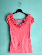 Różowa bluzka z kokardkami S lub M...