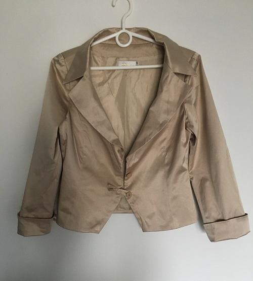 Komplet Złoty Żakiet i Spodnie 38 M Diana