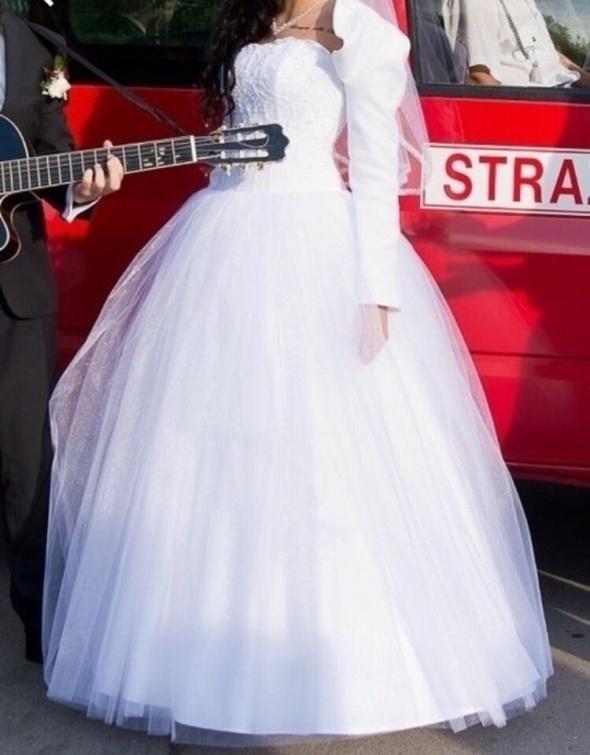 Suknia ślubna princessa koronka gorset