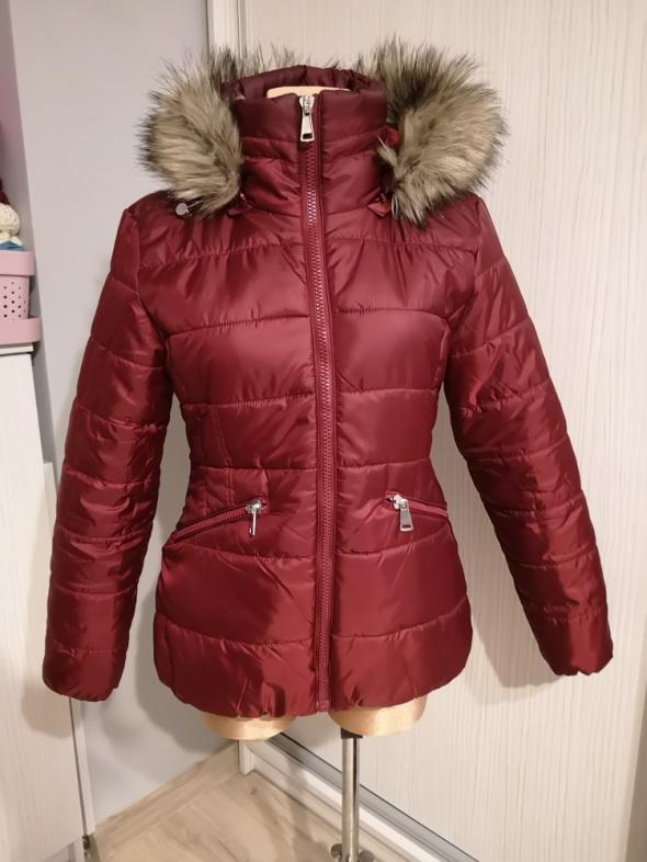 Orsay kurtka pikowana burgund taliowana XL