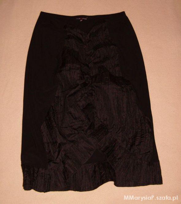 Spódnice Czarna spódnica drapowana