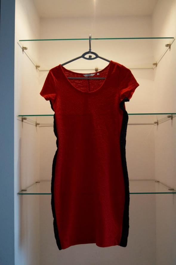 New look czerwona sukienka S...