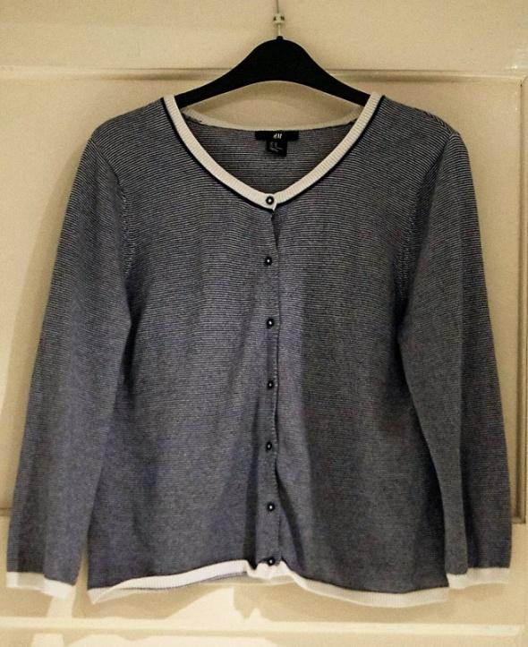 Sweterek w paski H&M...