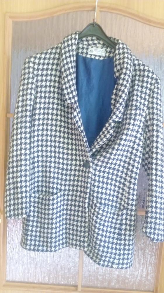 Odzież wierzchnia Płaszcz w pepitkę wełniany over