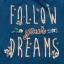 CHABROWA BLUZKA Z NAPISAMI FOLLOW YOUR DREAMS