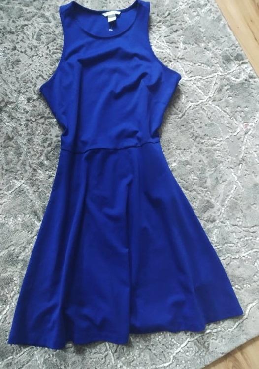 Kobaltowa sukienka H&M rozmiar M