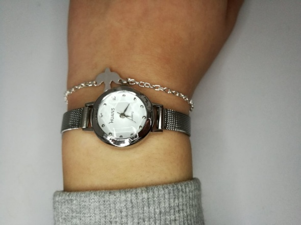 Nowy Damski srebrny zegarek