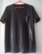 czarna woskowana bluzeczka...