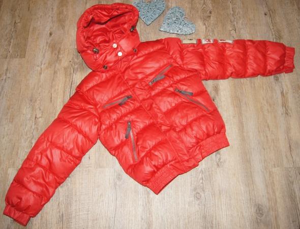 Kurtka chłopiec zimowa ocieplana czerwień rozm 128