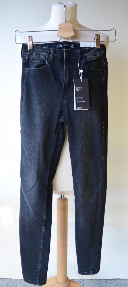 Spodnie Szare Bershka Nowe XXS 32 Skinny High Waist...