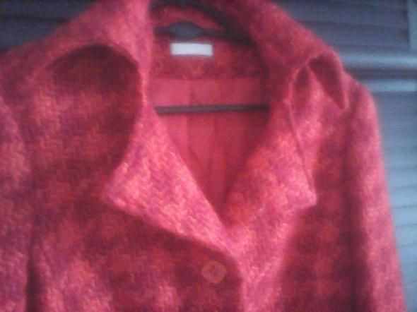 Odzież wierzchnia Kurtka wełniana na jesień Promod czerwona krata