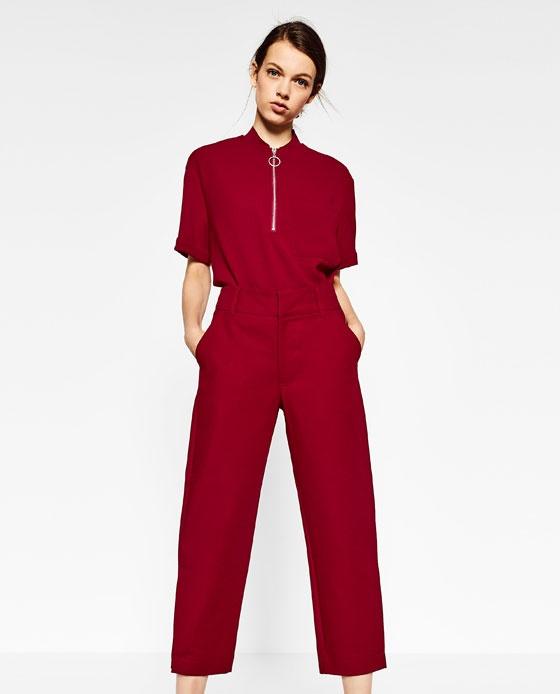 Spodnie Spodnie czerwone Zara