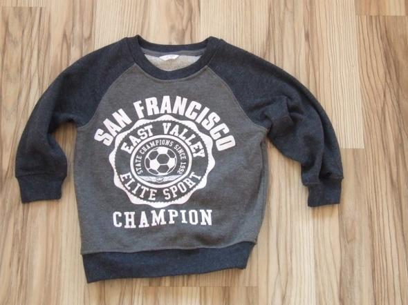 szara bluza San Francisco rozmiar 104