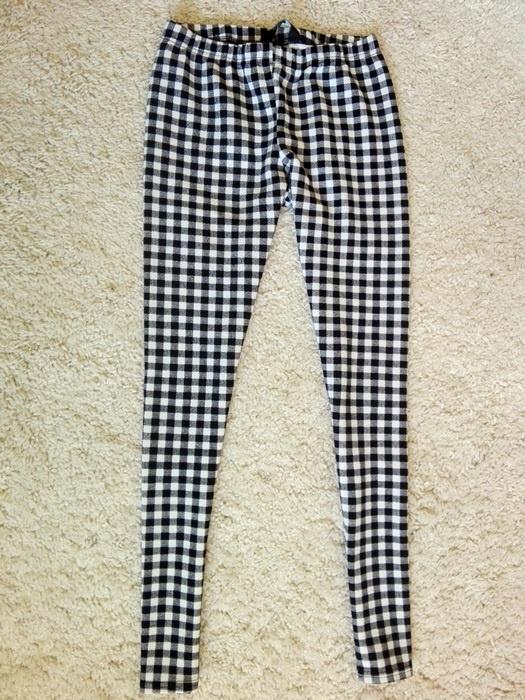 Legginsy legginsy w kratkę new look 14 15years XS S