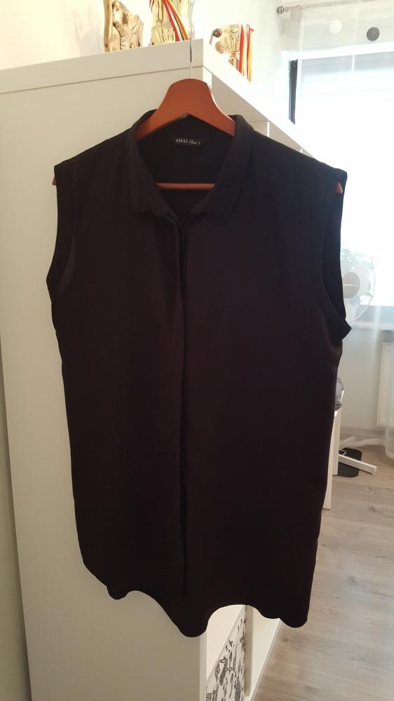 czarna koszula bez rękawów...