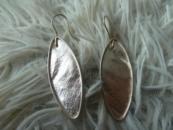 kolczyki srebrne płaskie