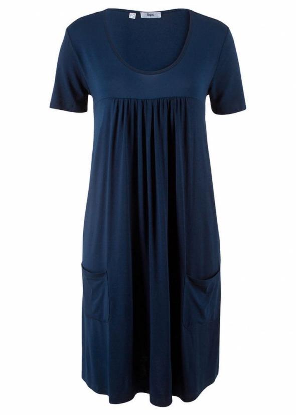 Shirtowa sukienka z kieszeniami luźna wygodna