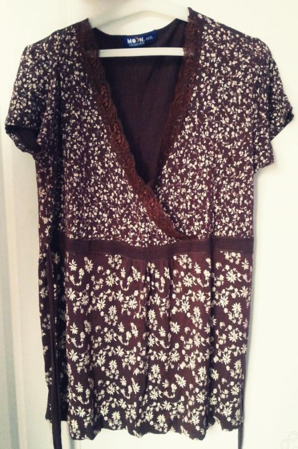 Śliczna bluzka tunika floral plus size 44 48 XXL