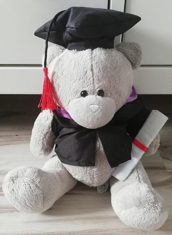 Miś absolwent maskotka przytulanka pluszak