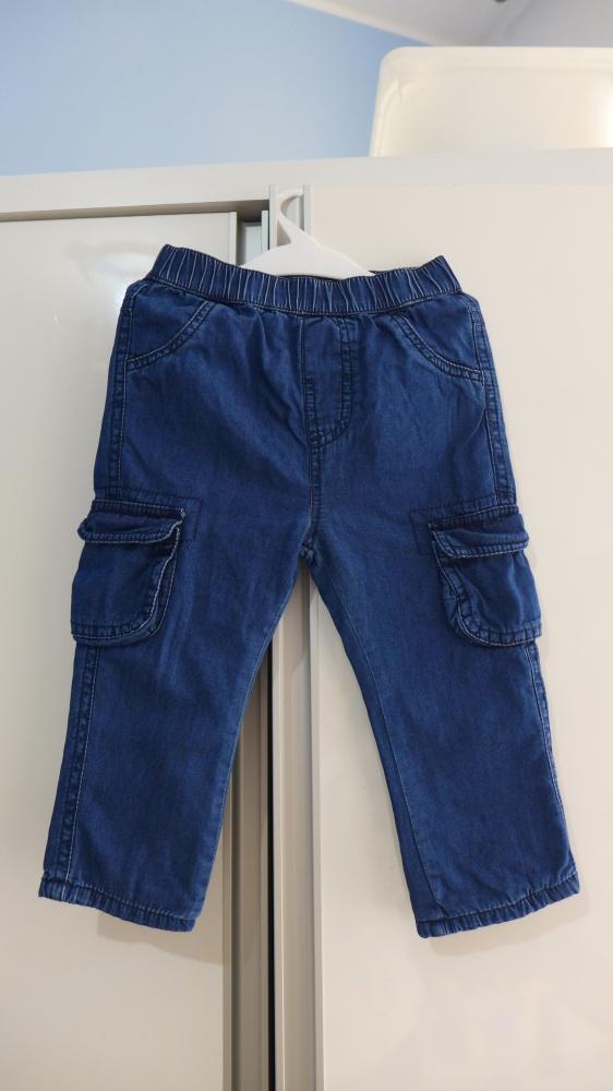 Śliczne mięciutkie jeansy Dunnes Stores rozm 74do80 9do12 mcy...