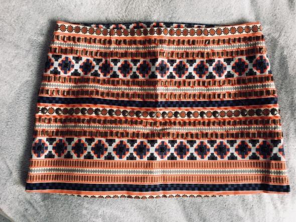 Kolorowa spódniczka mini wzory azteckie rozm 42