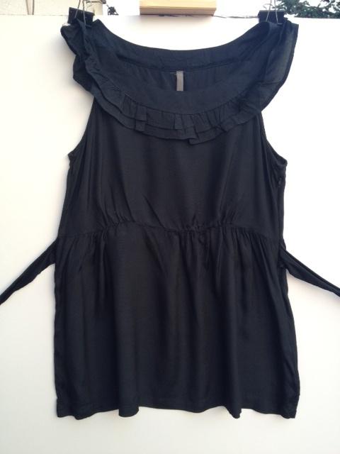 Czarna elegancka bluzka letnia rozm 38