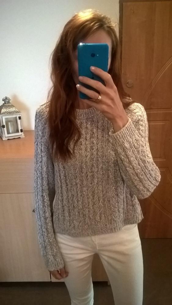 Szary sweterek H&M rozm S M