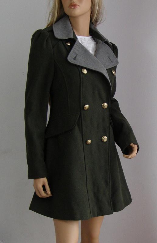Kurtka płaszcz przejściowy wiosna 40 L khaki zielony