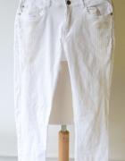 Spodnie Białe Lindex Biel M 38 Rurki Aztec...